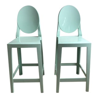 Contemporary Philippe Starck for Kartell Mint Counter Stools - a Pair