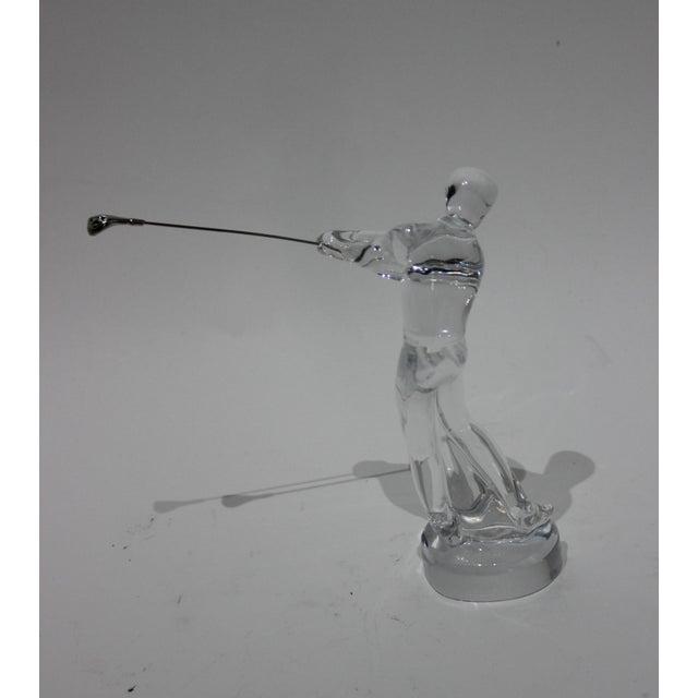 Figurative Baccarat Crystal Golfer Figurine For Sale - Image 3 of 9