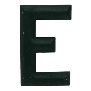 Vintage Wood Letter E For Sale