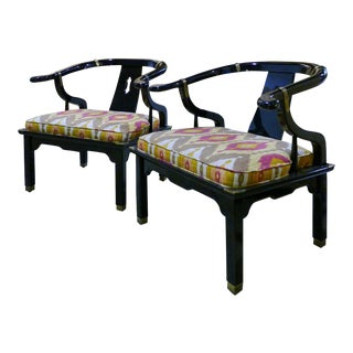 James Mont for Century Furniture Asian Style Chairs - A Pair