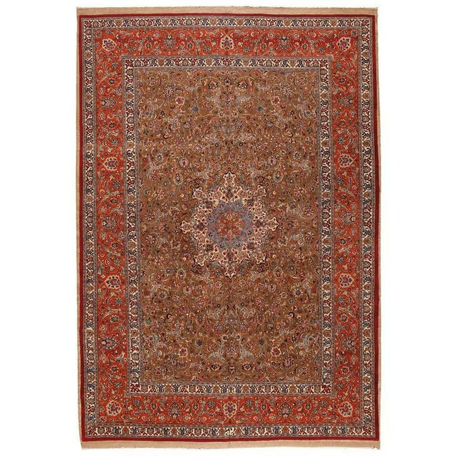 Extremely fine Persian Saber Meshed carpet. Contact dealer. Excellent condition.