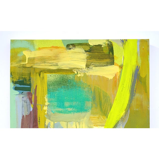 This yellow abstract work is by Molly Herman who creates beautiful paintings with colorful forms. She currently lives and...