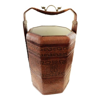 LG Antique Chinese Wedding Basket For Sale