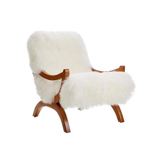 Curly Jj Chair Warm White For Sale