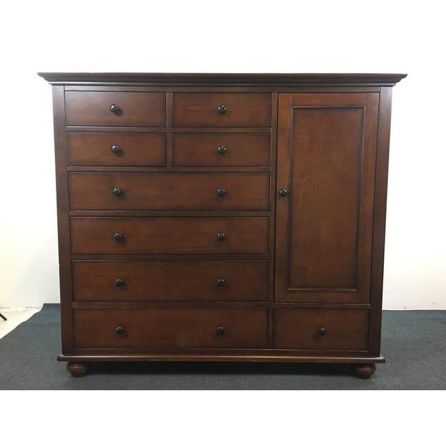 Pottery Barn Wood 'Laurel' 9-Drawer Wardrobe - Image 2 of 8