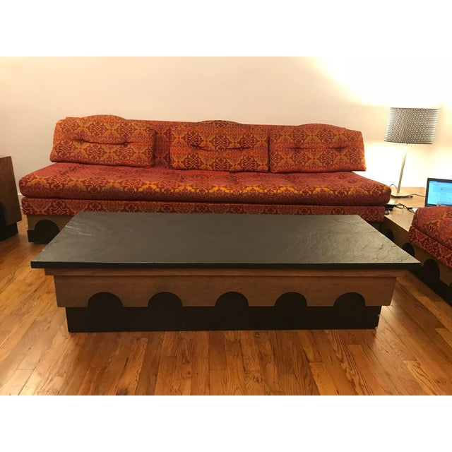 Plywood 1960s Mid Century Modern Adrian Pearsall Slate Coffee Table For Sale - Image 7 of 7