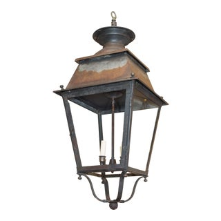 19th Century French Iron Lantern For Sale