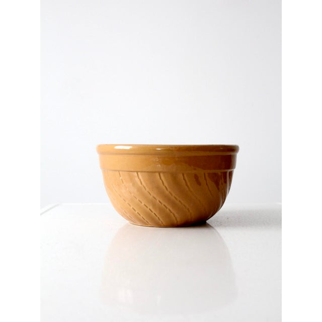 Goldenrod Vintage Yellow Ware Bowl For Sale - Image 8 of 8