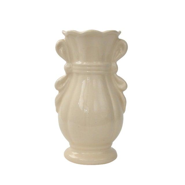 Cream Vase With Ribbon Handles - Image 1 of 9