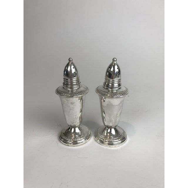 1950s 1950s Sterling Silver Salt and Pepper Shaker - a Pair For Sale - Image 5 of 5