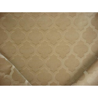 Kravet Couture Ornamental Panne Stone Drapery Upholstery Fabric - 3 & 3/8 Yards For Sale