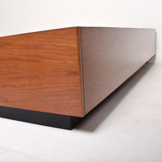 Hans Wegner Pablo Romo for Ambianic Custom Bed Frame Cal King Walnut Platform Frame For Sale - Image 4 of 9