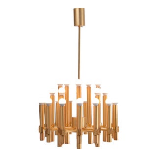 Exeptional Chandelier or Sputnik by Angelo Brotto for Esperia Italia For Sale