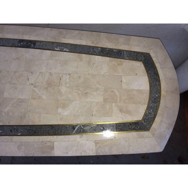 Maitland-Smith Tessellated Fossil Console Table For Sale In New York - Image 6 of 11