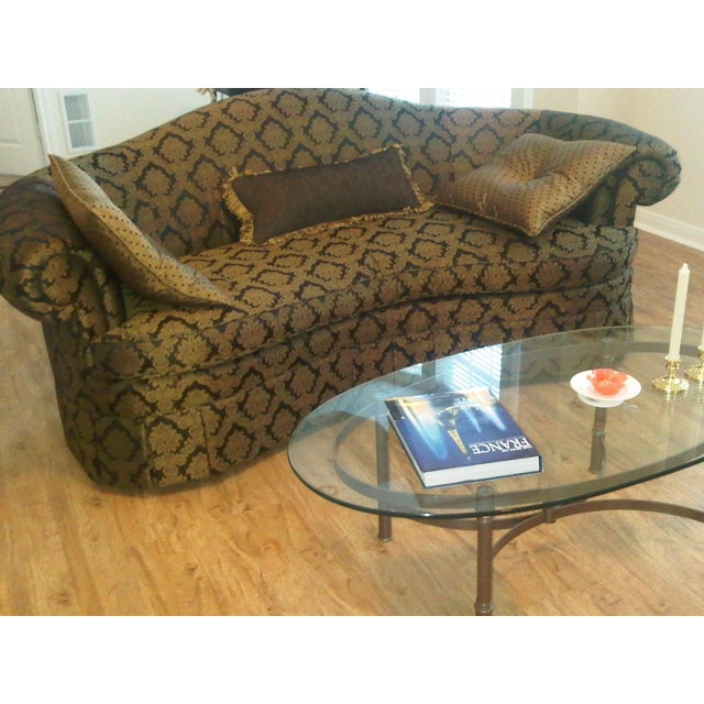 Fabric Hickory Chair Furniture Company Sofa For Sale - Image 7 of 8