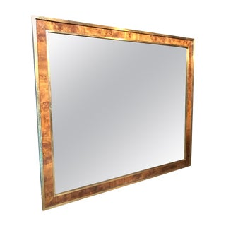 Tommaso Barbi, Attributed Oversized Modern Brass Wall Mirror, Italy, 1970s For Sale