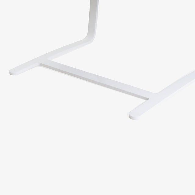 White Brno Flat-Bar Chairs in Dove Velvet, Lunar Gloss Frame For Sale - Image 8 of 10
