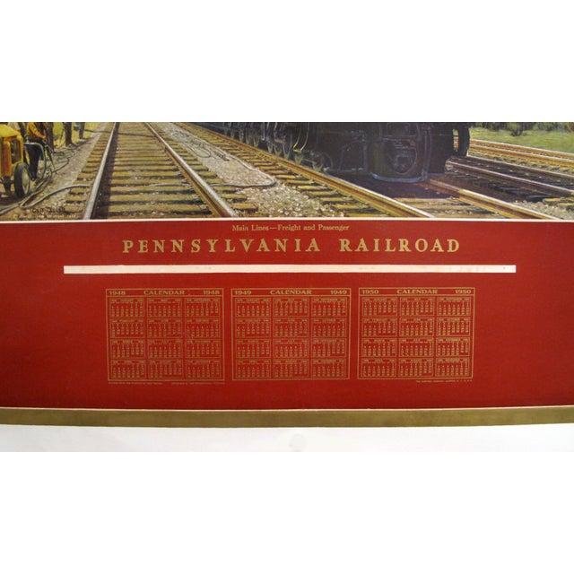 Calendario 1949.1949 Original American Calendar Poster Calendar Pennsylvania Railroads