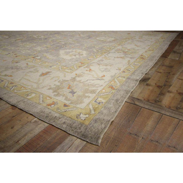 Contemporary Contemporary Turkish Oushak Area Rug - 11′4″ × 13′10″ For Sale - Image 3 of 8
