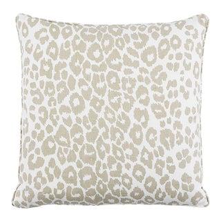 "Modern Tan Leopard Print 22"" Pillow For Sale"
