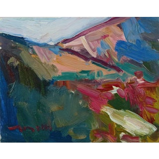 """""""Mountain Hills"""" Contemporary Landscape Oil Painting by Jose Trujillo For Sale"""