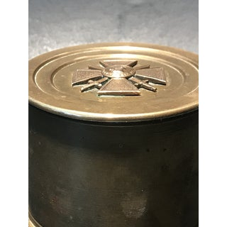 1910's World War I French Trench Art Brass Tobacco Jar Preview