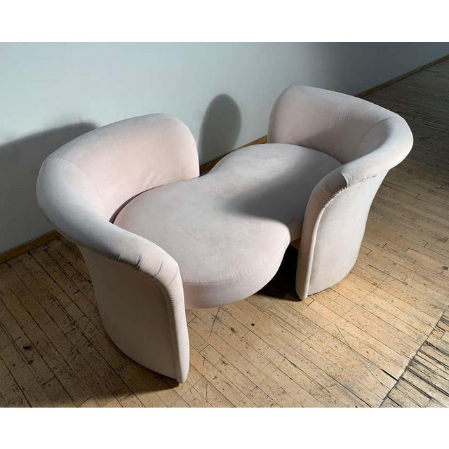 Tete-a-Tete Love Seat Sofa by Milo Baughman / manner of Vladimir Kagan For Sale - Image 12 of 13