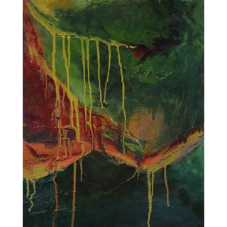 """""""I'm Stuck Upstream"""" Contemporary Abstract Mixed-Media Painting For Sale"""