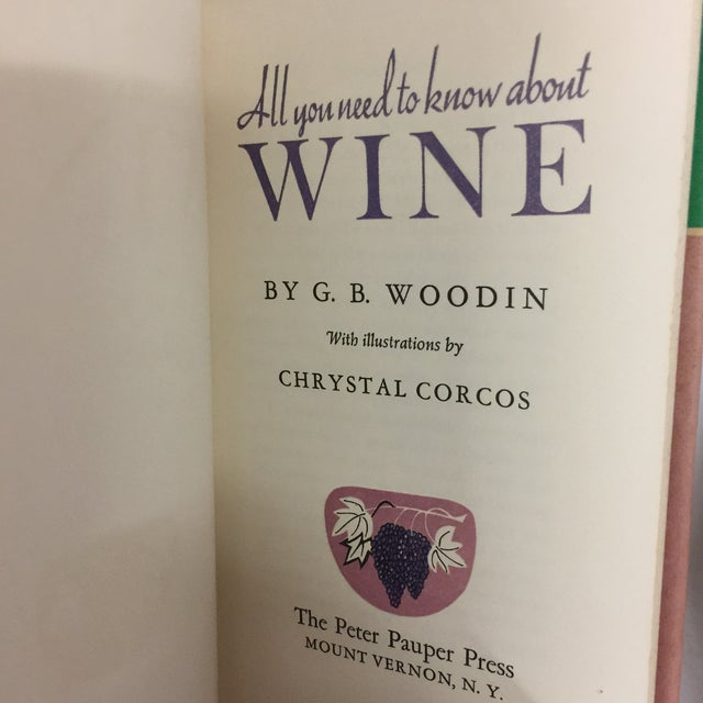 Vintage set of two book on wine. Appear unread. One hardcover and one softcover. Peter Pauper Press, 1969, hardcover with...