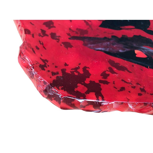 Abstract Fontana Arte Red Center Piece or Wall Decoration by Dube' For Sale - Image 3 of 9