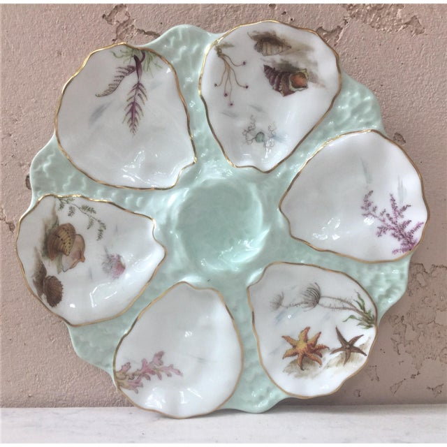 Limoges French Oyster Porcelain Sealife Plate For Sale - Image 11 of 11