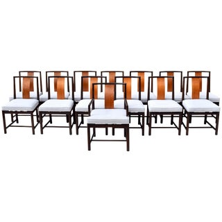 1960s Vintage John Stuart Dining Chairs- Set of 14 For Sale