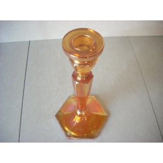 1960s Carnival Glass Candlestick Preview