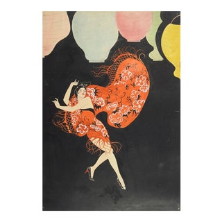 1920s Deco Spanish Dancer Painting by H. B. Patton