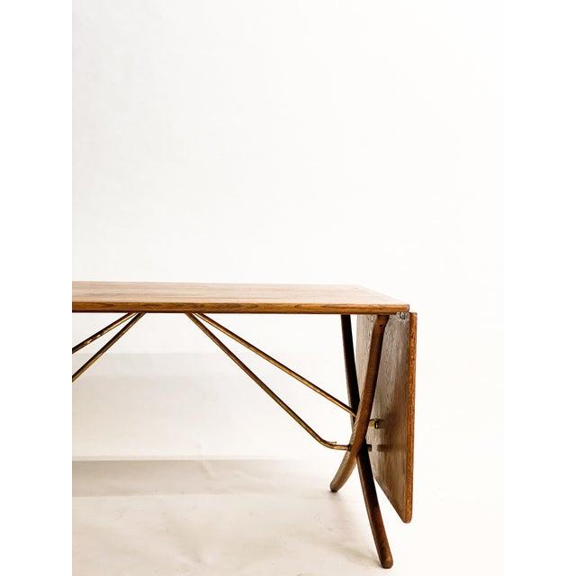 Mid-Century Modern Hans Wegner Andreas Tuck Oak Dining Table For Sale - Image 3 of 11