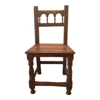 18th Century Vintage Spanish Side Chair For Sale