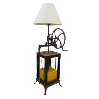 1990s Cottage Butter Churn Floor Lamp For Sale