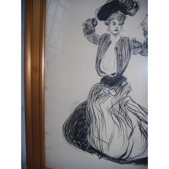 Vintage 1906 Original Drawing by John G Wilson - Image 6 of 7