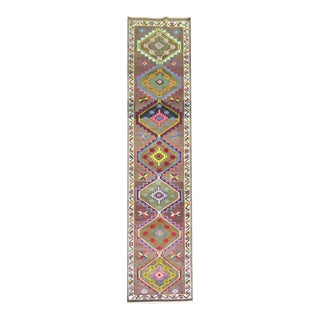 Bohemian Vintage Turkish Runner, 3' x 13'10''