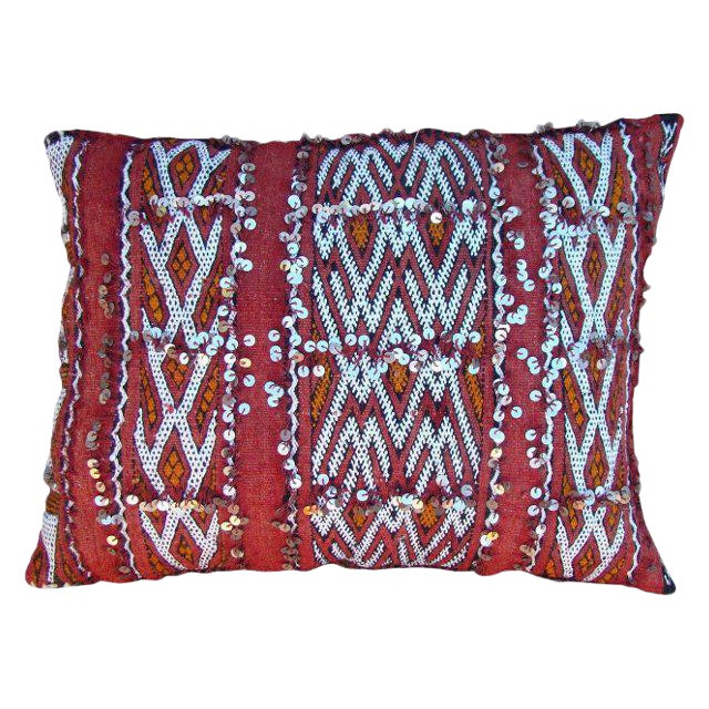 Intricate Berber Design Moroccan Pillow For Sale