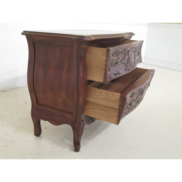 John Widdicomb French Louis XV Style Carved 2 Drawer Chest For Sale - Image 9 of 11