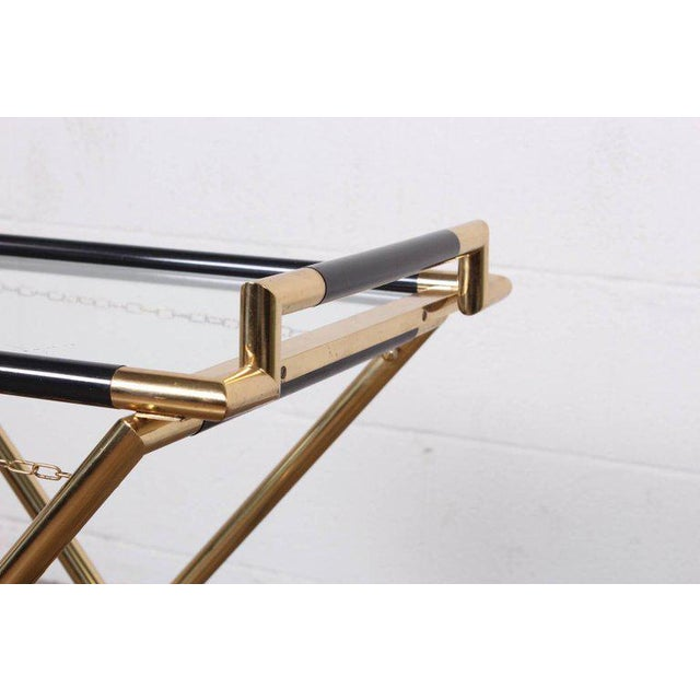 Italian Folding Tray Table in Brass For Sale In Dallas - Image 6 of 9