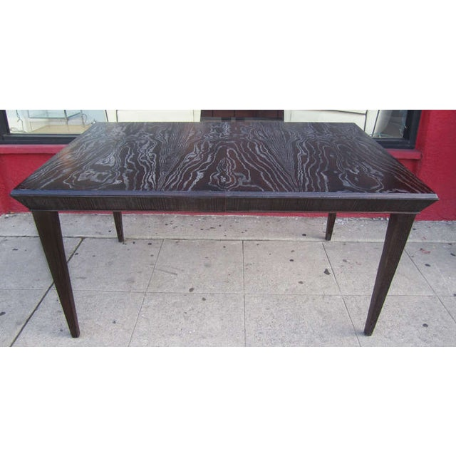 Paul Frankl Vintage Amber Cerused Dining Table - Image 2 of 7
