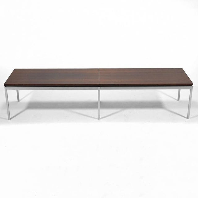 Knoll Florence Knoll Rosewood Table or Bench For Sale - Image 4 of 10