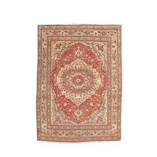 Classic Medallion Tabriz Carpet For Sale