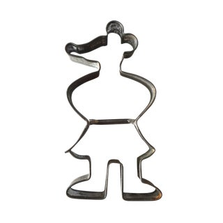 1940 Vintage Depression-Era Tin Minnie Mouse Cookie Cutter For Sale