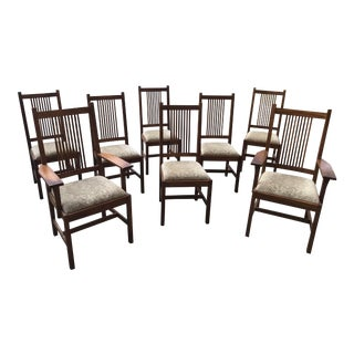 Vintage Stickley Chairs - Set of 8 For Sale