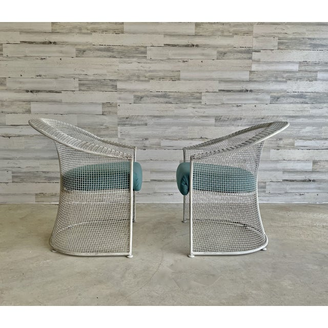 Metal Mid Century Wire Formed Patio Set For Sale - Image 7 of 13