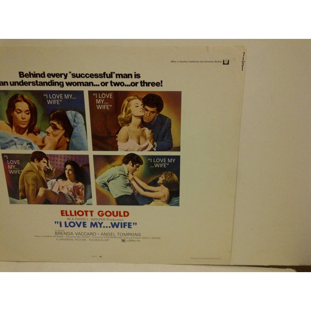 """I Love My ... Wife"" Vintage Movie Poster, 1970 For Sale - Image 4 of 6"