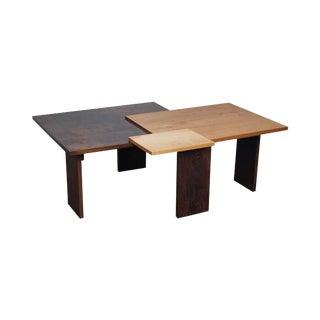 Jeffrey Greene Studio Mixed Wood Geometric Coffee Table For Sale